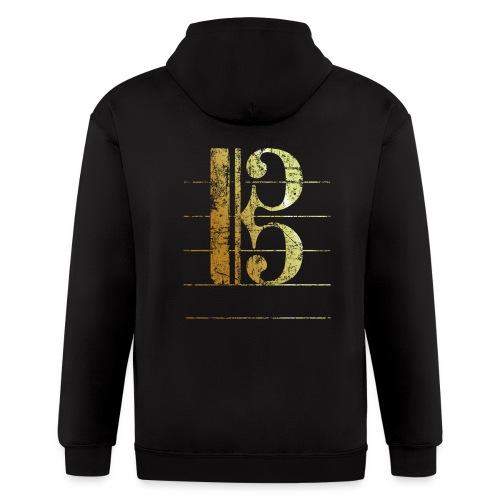 Tenor Clef T-Shirt (Ancient Gold) - Men's Zip Hoodie