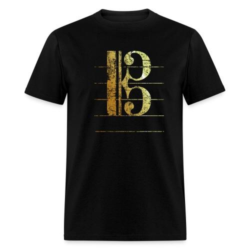 Tenor Clef T-Shirt (Ancient Gold) - Men's T-Shirt