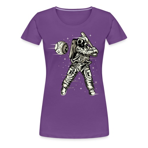 Space Baseball Astronaut - Women's Premium T-Shirt