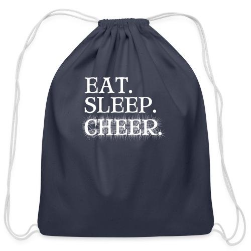 Eat Sleep Cheer - Cotton Drawstring Bag