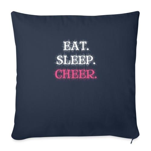 Eat Sleep Cheer - Throw Pillow Cover