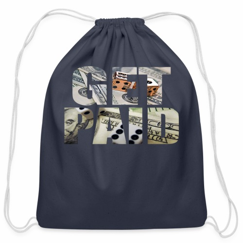 Entrepreneur By Nature Get Paid V Neck - Cotton Drawstring Bag