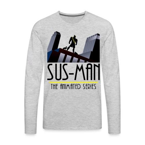Sus-Man The Animated Series T-Shirt - Men's Premium Long Sleeve T-Shirt