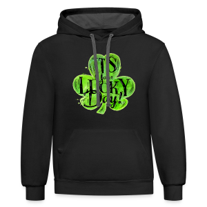 St Patricks Lucky Day T-Shirts - Contrast Hoodie