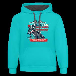 Dirt Dash Moto T-Shirts - Contrast Hoodie