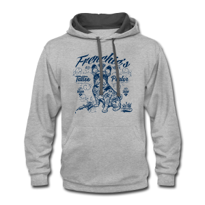 Frenchie's Old School T-Shirts - Contrast Hoodie
