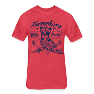 Frenchie's Old School T-Shirts - Fitted Cotton/Poly T-Shirt by Next Level