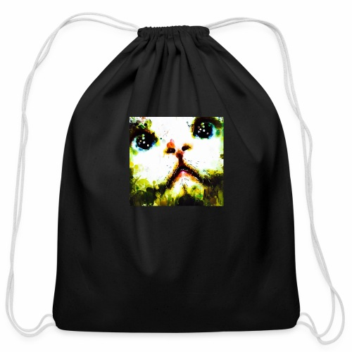 Can'r say no to that face! - Cotton Drawstring Bag