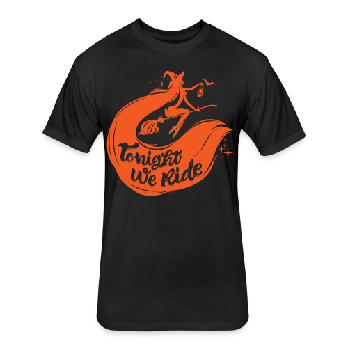 Halloween_Witch_orange T-Shirts - Fitted Cotton/Poly T-Shirt by Next Level