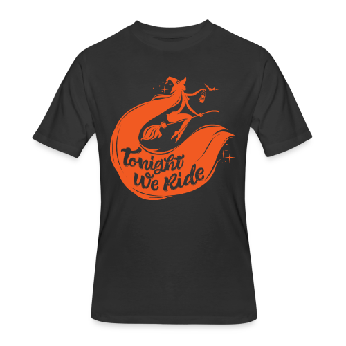 Halloween_Witch_orange T-Shirts - Men's 50/50 T-Shirt