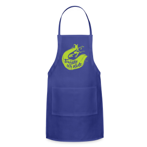 Halloween_Witch_lime T-Shirts - Adjustable Apron