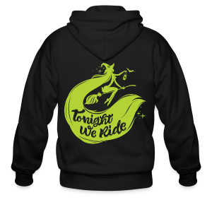 Halloween_Witch_lime T-Shirts - Men's Zip Hoodie