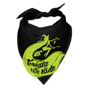 Halloween_Witch_lime T-Shirts - Bandana