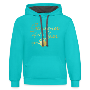 Gardener of the Year T-Shirt (Gold) - Contrast Hoodie