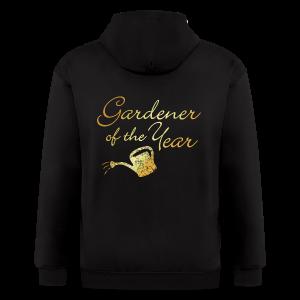 Gardener of the Year T-Shirt (Gold) - Men's Zip Hoodie