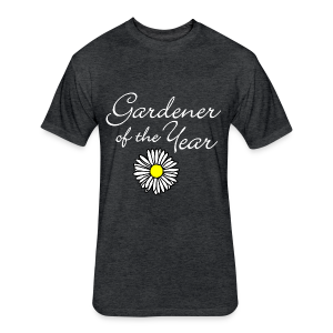 Gardener of the Year (White) T-Shirt - Fitted Cotton/Poly T-Shirt by Next Level