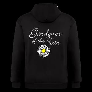 Gardener of the Year (White) T-Shirt - Men's Zip Hoodie