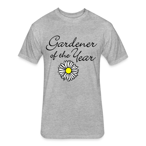 Gardener of the Year (Black) T-Shirt - Fitted Cotton/Poly T-Shirt by Next Level