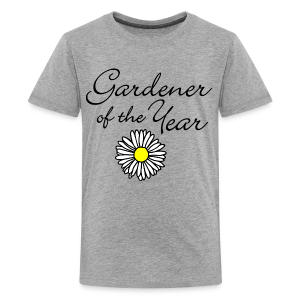 Gardener of the Year (Black) T-Shirt - Kids' Premium T-Shirt