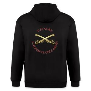 Cavalry Branch Insignia - Men's Zip Hoodie