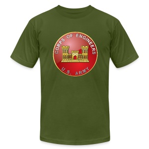 USACE Branch Plaque - Men's T-Shirt by American Apparel