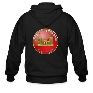 USACE Branch Plaque - Men's Zip Hoodie