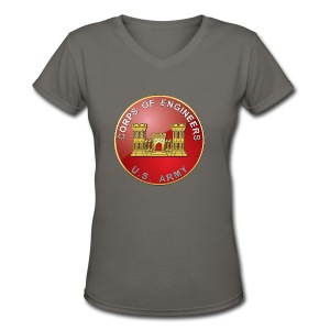 USACE Branch Plaque - Women's V-Neck T-Shirt