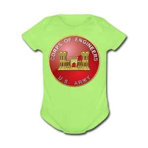 USACE Branch Plaque - Short Sleeve Baby Bodysuit