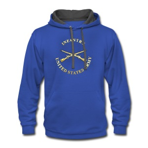 Infantry Branch Insignia - Contrast Hoodie