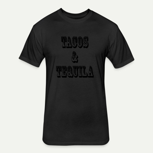 Tacos & Tequila - Fitted Cotton/Poly T-Shirt by Next Level