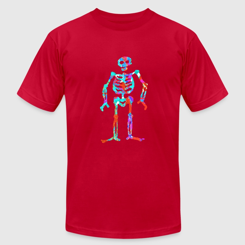 ELECTRIC NEON SKELETON T-Shirts - Men's T-Shirt by American Apparel