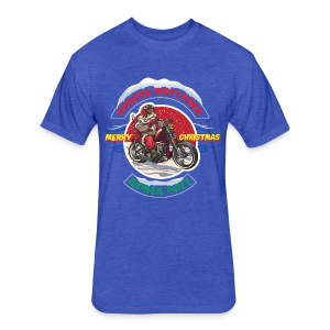 Santa's Wolfpack - Fitted Cotton/Poly T-Shirt by Next Level