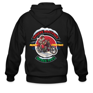 Santa's Wolfpack - Men's Zip Hoodie