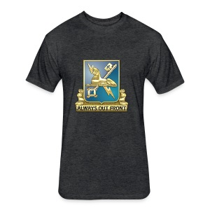 MI Regimental Insignia - Fitted Cotton/Poly T-Shirt by Next Level