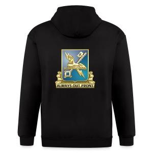 MI Regimental Insignia - Men's Zip Hoodie