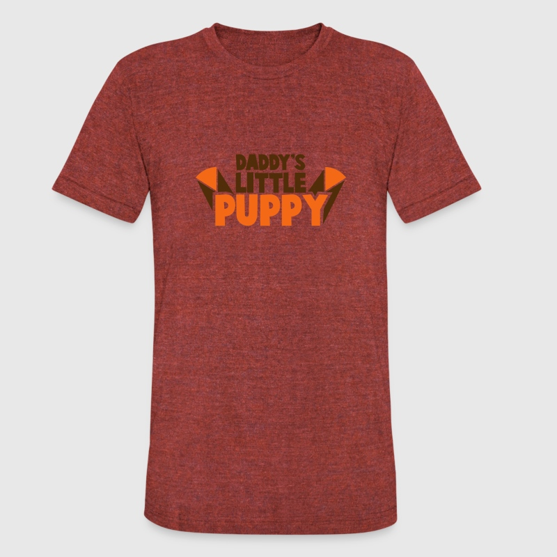 DADDY's little PUPPY! child baby design T-Shirts - Unisex Tri-Blend T-Shirt by American Apparel