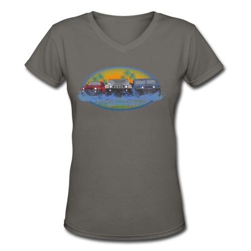 Original Florida Hummer Club Womens - Women's V-Neck T-Shirt