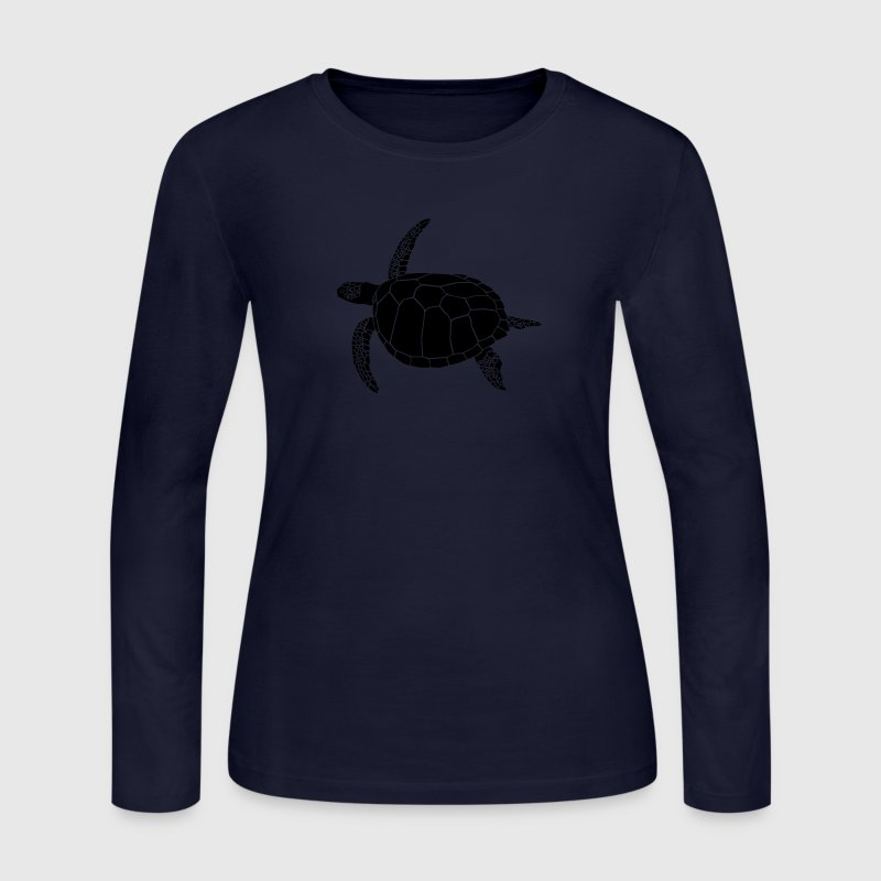 sea turtle scuba diving coral reef Long Sleeve Shirts - Women's Long Sleeve Jersey T-Shirt