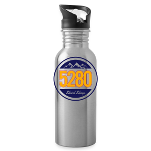 5280 Tee - Orange and Blue - Mens - Water Bottle