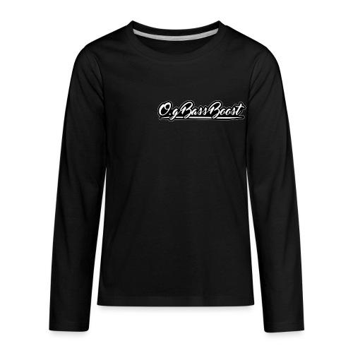 O.G Bass Boost Premium Kids Shirt - Kids' Premium Long Sleeve T-Shirt
