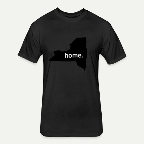 New York Home - Fitted Cotton/Poly T-Shirt by Next Level