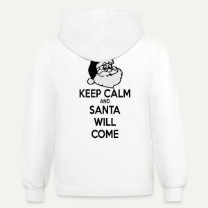 Keep Calm Santa Will Come - Contrast Hoodie