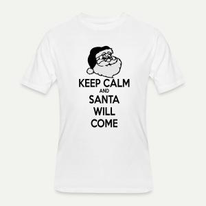 Keep Calm Santa Will Come - Men's 50/50 T-Shirt
