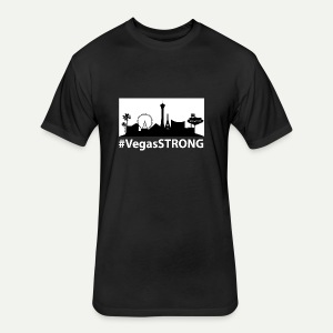 Vegas Strong - Fitted Cotton/Poly T-Shirt by Next Level