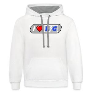 I Heart L2G Women Shirt - Contrast Hoodie