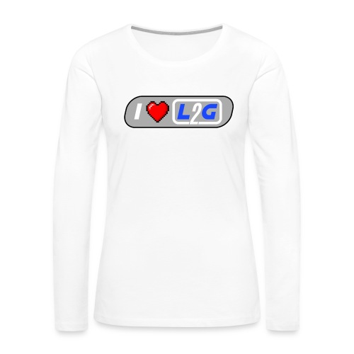 I Heart L2G Women Shirt - Women's Premium Long Sleeve T-Shirt