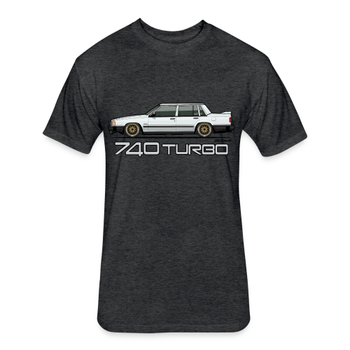 740 744 Turbo Sedan Badge White - Fitted Cotton/Poly T-Shirt by Next Level