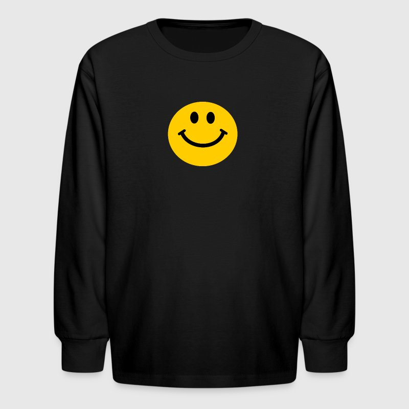 Yellow Smiley Face Kids' Shirts - Kids' Long Sleeve T-Shirt