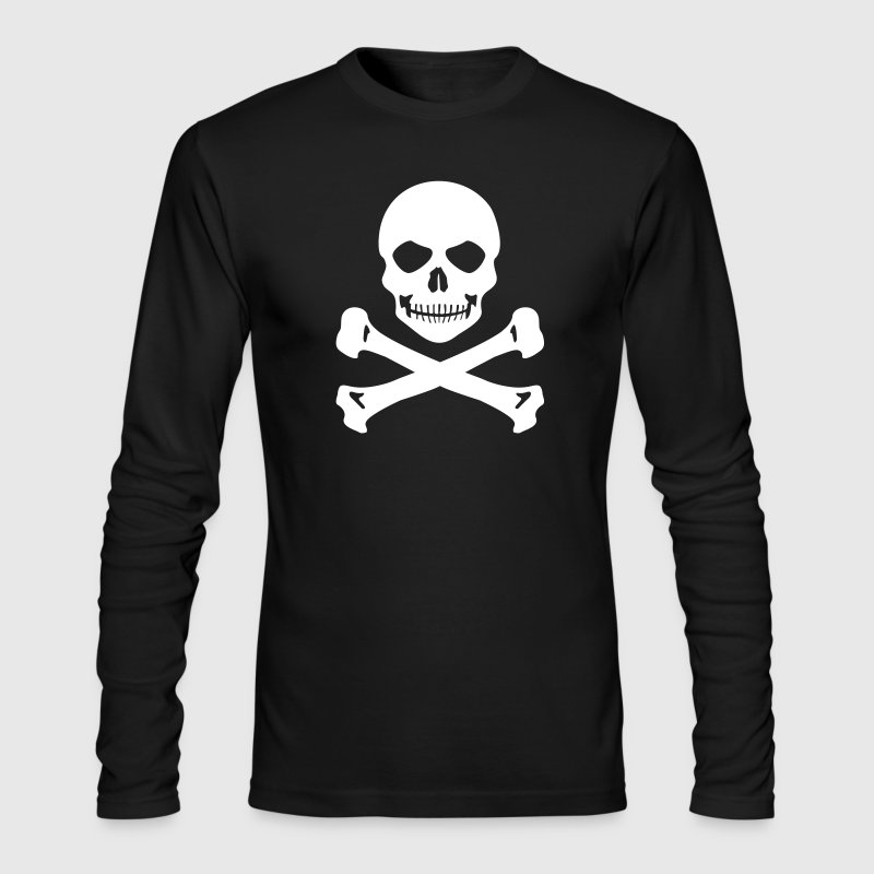 Pirate skull Long Sleeve Shirts - Men's Long Sleeve T-Shirt by Next Level