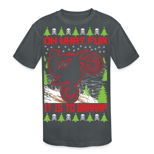 Ugly Christmas Dirt Bike - Kids' Moisture Wicking Performance T-Shirt